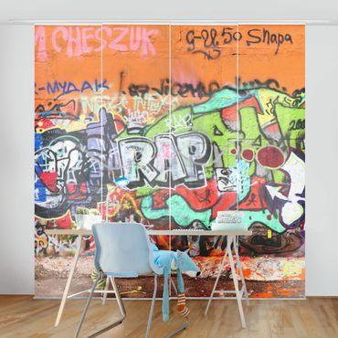 Schiebegardinen Set - Graffiti - Flächenvorhänge