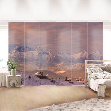 Schiebegardinen Set - Hohe Tatra am Morgen - Flächenvorhänge