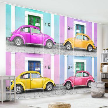 Schiebegardinen Set - Kolorierte Beetles - Flächenvorhänge