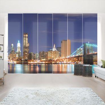 Schiebegardinen Set - Manhattan in New York City - Flächenvorhänge