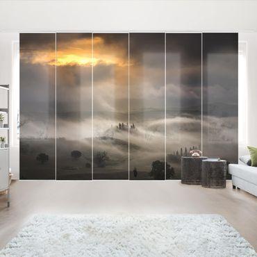 Schiebegardinen Set - Nebelwellen - Flächenvorhänge