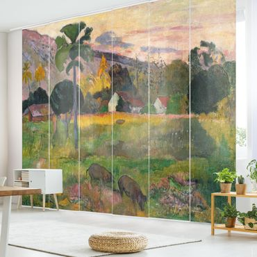 Schiebegardinen Set - Paul Gauguin - Haere mai (Komm her) - Flächenvorhänge