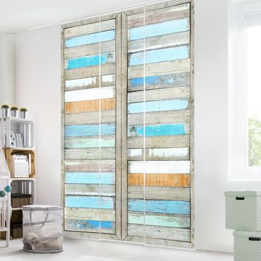 Schiebegardinen Set - Shelves of the Sea - Flächenvorhänge