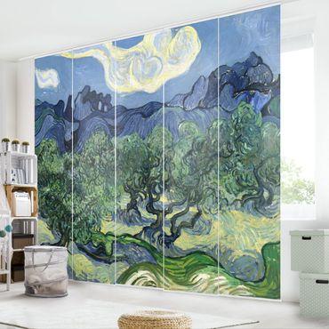 Schiebegardinen Set - Vincent van Gogh - Olivenbäume - Flächenvorhänge