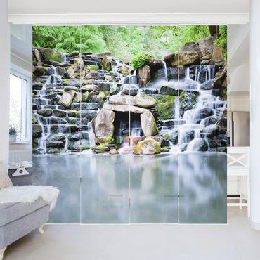 Schiebegardinen Set - Wasserfall - Flächenvorhänge