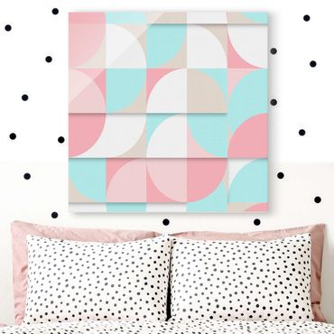 Glasbild - Skandinavische Geometrie - Quadrat