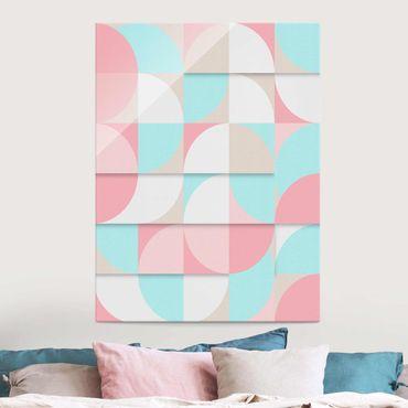 Glasbild - Skandinavische Geometrie - Hochformat