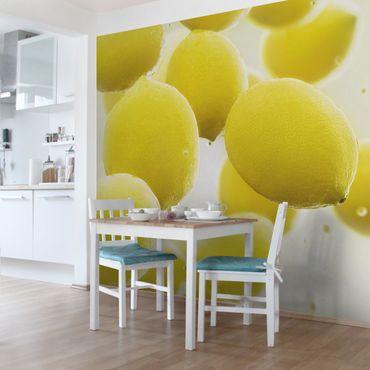 Fototapete Zitronen im Wasser