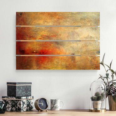 Holzbild - Joseph Mallord William Turner - Sonnenuntergang über einem See - Querformat 2:3