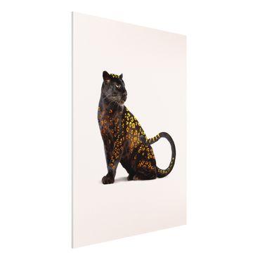 Forex Fine Art Print - Jonas Loose - Goldener Panther - Hochformat 4:3