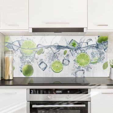 Spritzschutz Glas - Erfrischende Limette - Panorama - 5:2