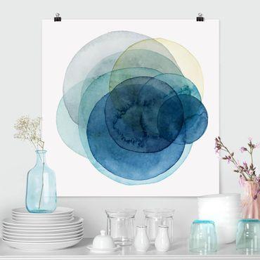 Poster - Urknall - blau - Quadrat 1:1