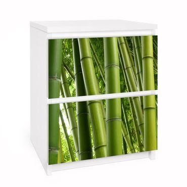 Möbelfolie für IKEA Malm Kommode - Selbstklebefolie Bamboo Trees No.1