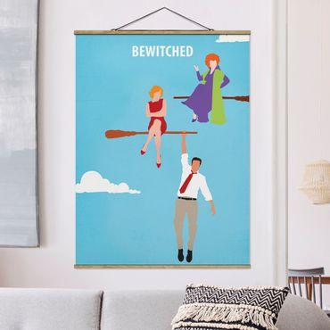 Stoffbild mit Posterleisten - Filmposter Bewitched - Hochformat 4:3