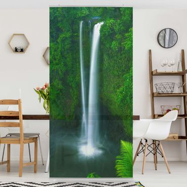 Raumteiler - Paradiesischer Wasserfall 250x120cm