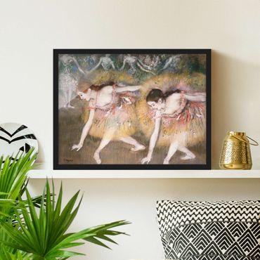 Bild mit Rahmen - Edgar Degas - Verbeugende Ballerinen - Querformat 3:4