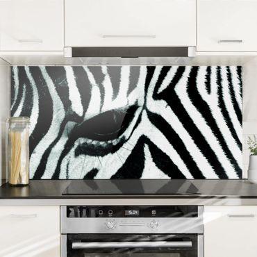 Spritzschutz Glas - Zebra Crossing No.4 - Querformat - 2:1