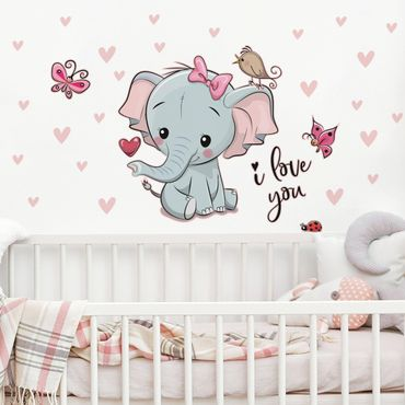 Wandtattoo - Elefant I love You
