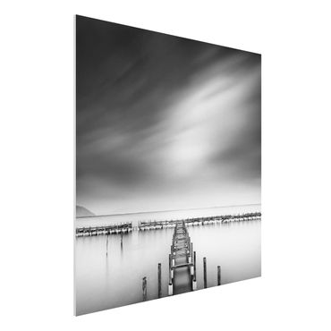 Forex Fine Art Print - Der alte Pier - Quadrat 1:1