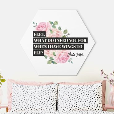 Hexagon Bild Alu-Dibond - Feet what do i need you for