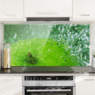 Spritzschutz Glas - Green Apple - Querformat - 2:1