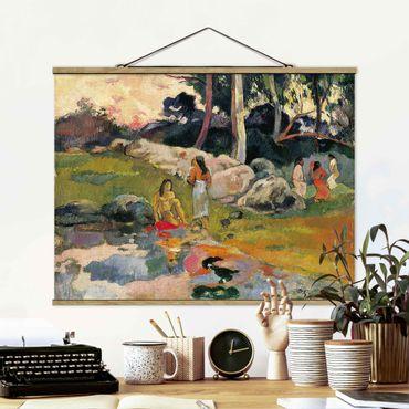 Stoffbild mit Posterleisten - Paul Gauguin - Flussufer - Querformat 3:4