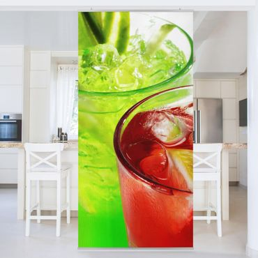 Raumteiler - Fresh Cocktails 250x120cm