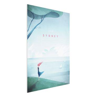 Forex Fine Art Print - Reiseposter - Sidney - Hochformat 4:3