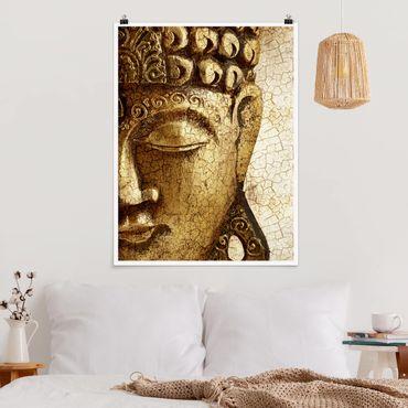 Poster - Vintage Buddha - Hochformat 3:4