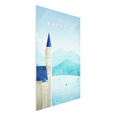 Forex Fine Art Print - Reiseposter - Bavaria - Hochformat 3:2