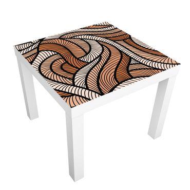 Möbelfolie für IKEA Lack - Klebefolie Holzschnitt in braun