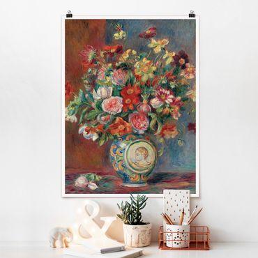 Poster - Auguste Renoir - Blumenvase - Hochformat 3:4