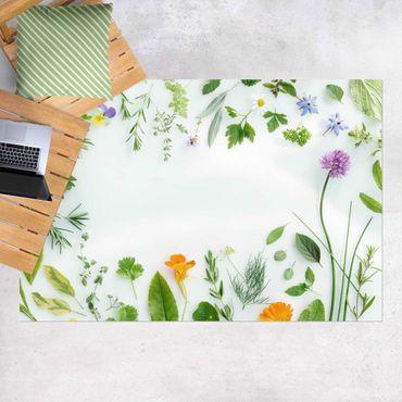 Vinyl-Teppich - Kräuter und Blüten - Querformat 3:2