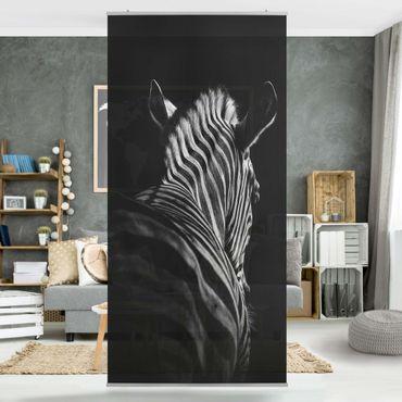 Raumteiler - Dunkle Zebra Silhouette - 250x120cm