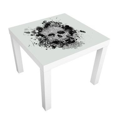 Möbelfolie für IKEA Lack - Klebefolie Skull
