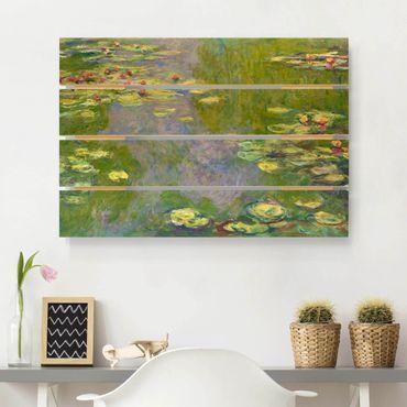 Holzbild - Claude Monet - Grüne Seerosen - Querformat 2:3