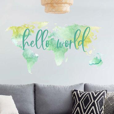 Wandtattoo Weltkarte Auf Markenfolie Bilderwelten
