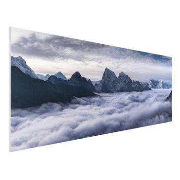 Forex Fine Art Print - Wolkenmeer im Himalaya - Panorama