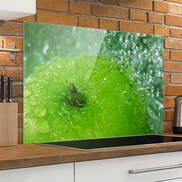 Spritzschutz Glas - Green Apple - Querformat - 3:2