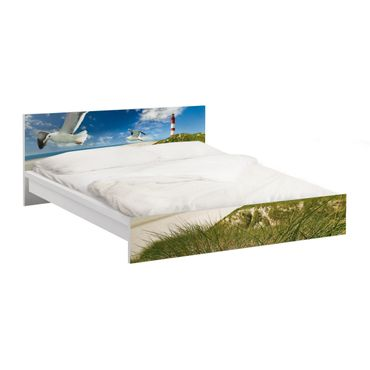Möbelfolie für IKEA Malm Bett niedrig 160x200cm - Klebefolie Dune Breeze