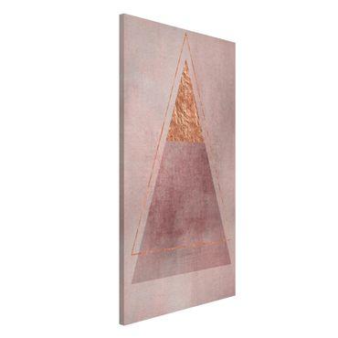 Magnettafel - Geometrie in Rosa und Gold II - Memoboard Hochformat 4:3