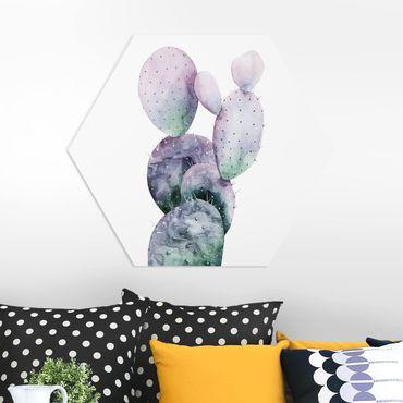 Hexagon Bild Forex - Kaktus in Lila I