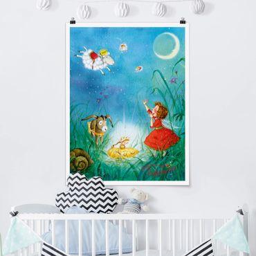 Poster - Erdbeerinchen Erdbeerfee - Schlaftaxi - Hochformat 3:4