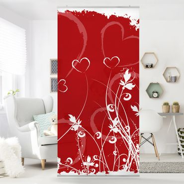 Raumteiler - Hearts Of Flower 250x120cm