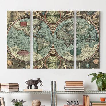 Leinwandbild 3-teilig - Die alte Welt - Triptychon