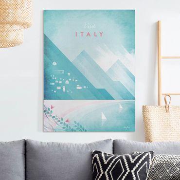 Leinwandbild - Reiseposter - Italien - Hochformat 4:3