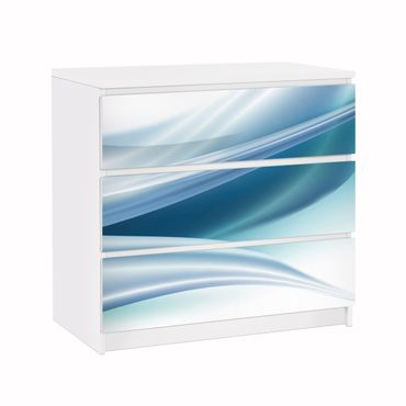 Möbelfolie für IKEA Malm Kommode - Klebefolie Blue Dust
