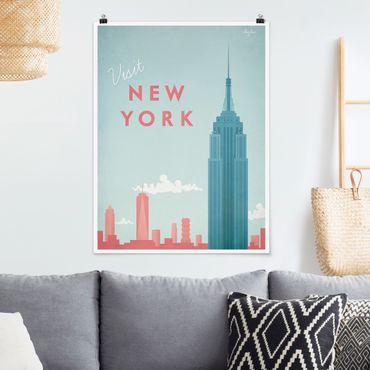 Poster - Reiseposter - New York - Hochformat 4:3
