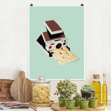 Poster - Jonas Loose - Kamera mit Käse - Hochformat 3:4