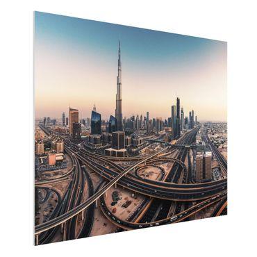 Forex Fine Art Print - Abendstimmung in Dubai - Querformat 3:4